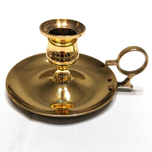 Vintage Brass Chamberstick Baldwin